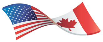 USA-Canada-Flag